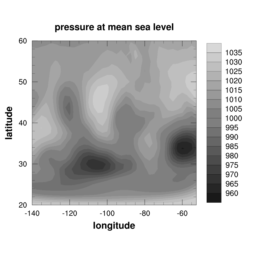 PyNGL/PyNIO tutorial: example 2 - Contour plots